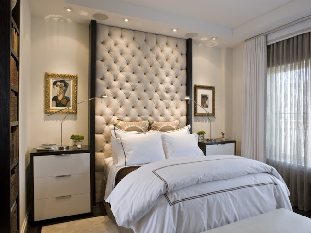 Photo of beautiful small bedroom interiors
