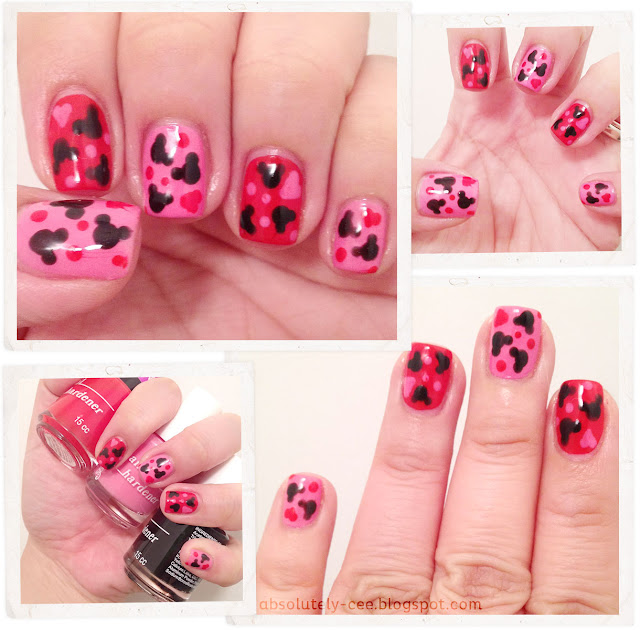 Mickey Mouse & Hearts Nails