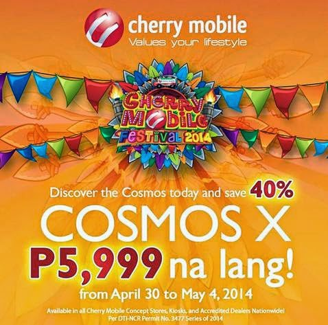 Cherry Mobile Cosmos X, Now Only Php5,999