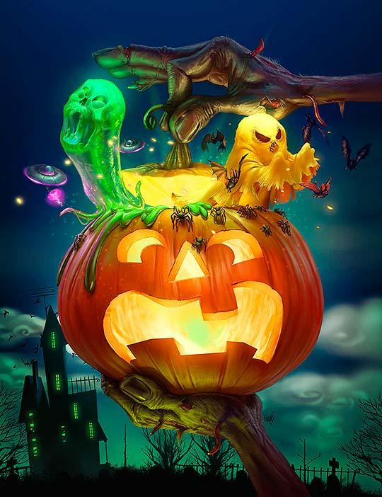 Capa Halloween de Ricardo Chucky
