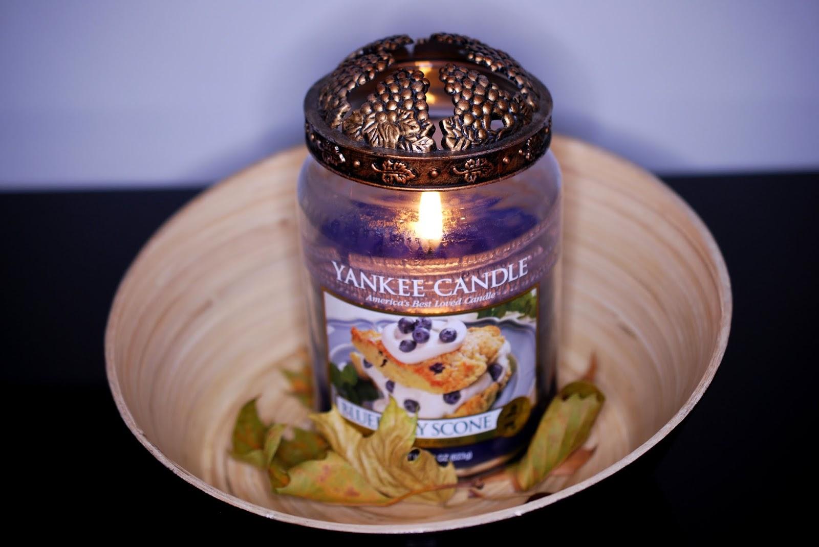 Lieblingskerze im Herbst: Yankee Candle Blueberry Scone