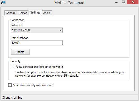 Windows 8 Mobile Gamepad