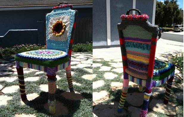 Jody Krochet: Yarn Bomb Chair May 2013