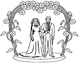 Precious Moments Bride And Groom Coloring Pages