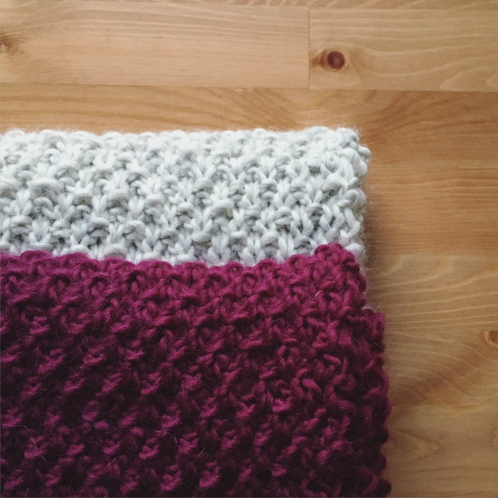 Oliphant Kat: Seed stitch scarf set