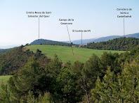 Panoràmica vers el sud des del camí de la Casanova de la Garriga