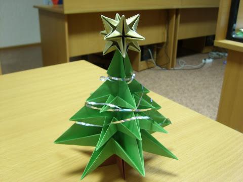 Оригами ёлка