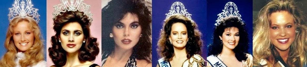 Misses Universo: 84, 85, 86, 97, 88 e 89