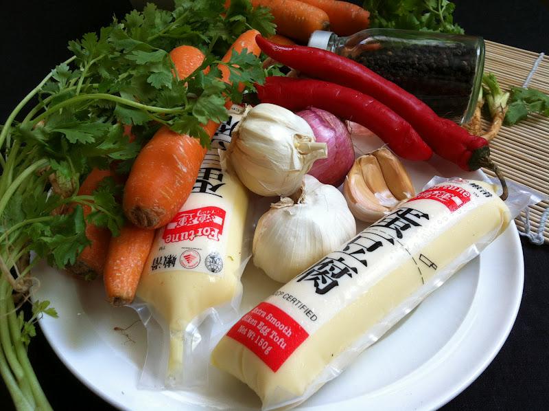 Japanese Egg Tofu Soup with Mixed Vegetables NenekMummy Keuken