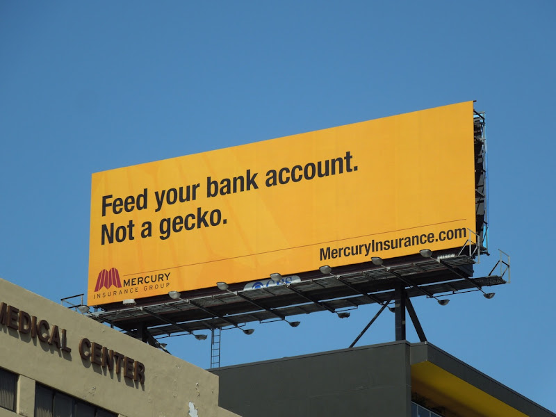Mercury Insurance gecko billboard