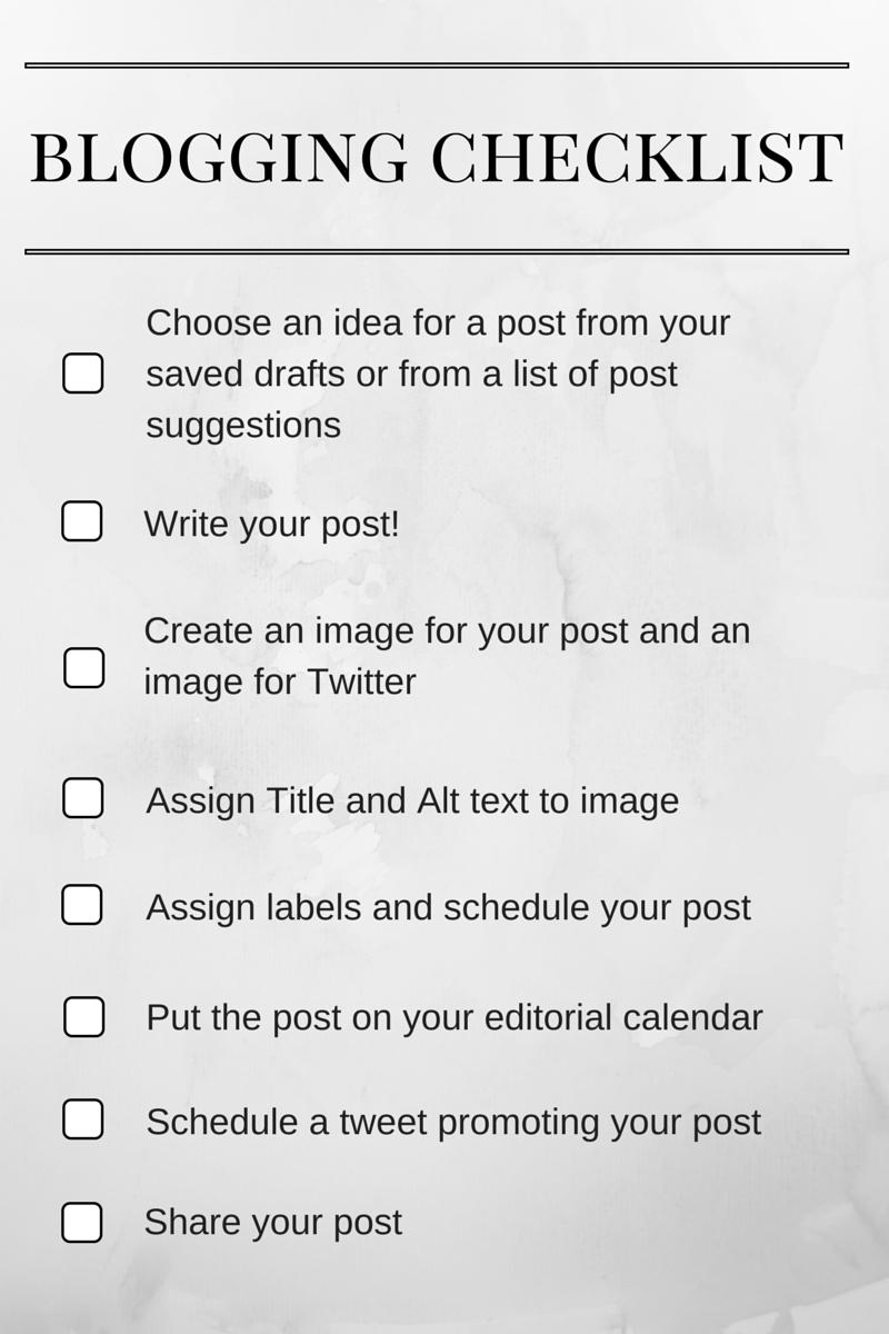 Blogging Process: Idea To Publish | alyssajfreitas.blogspot.com