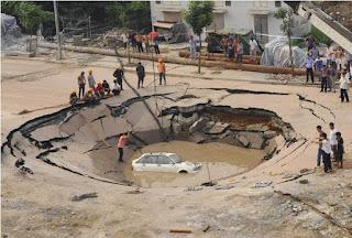 sinkholes na china
