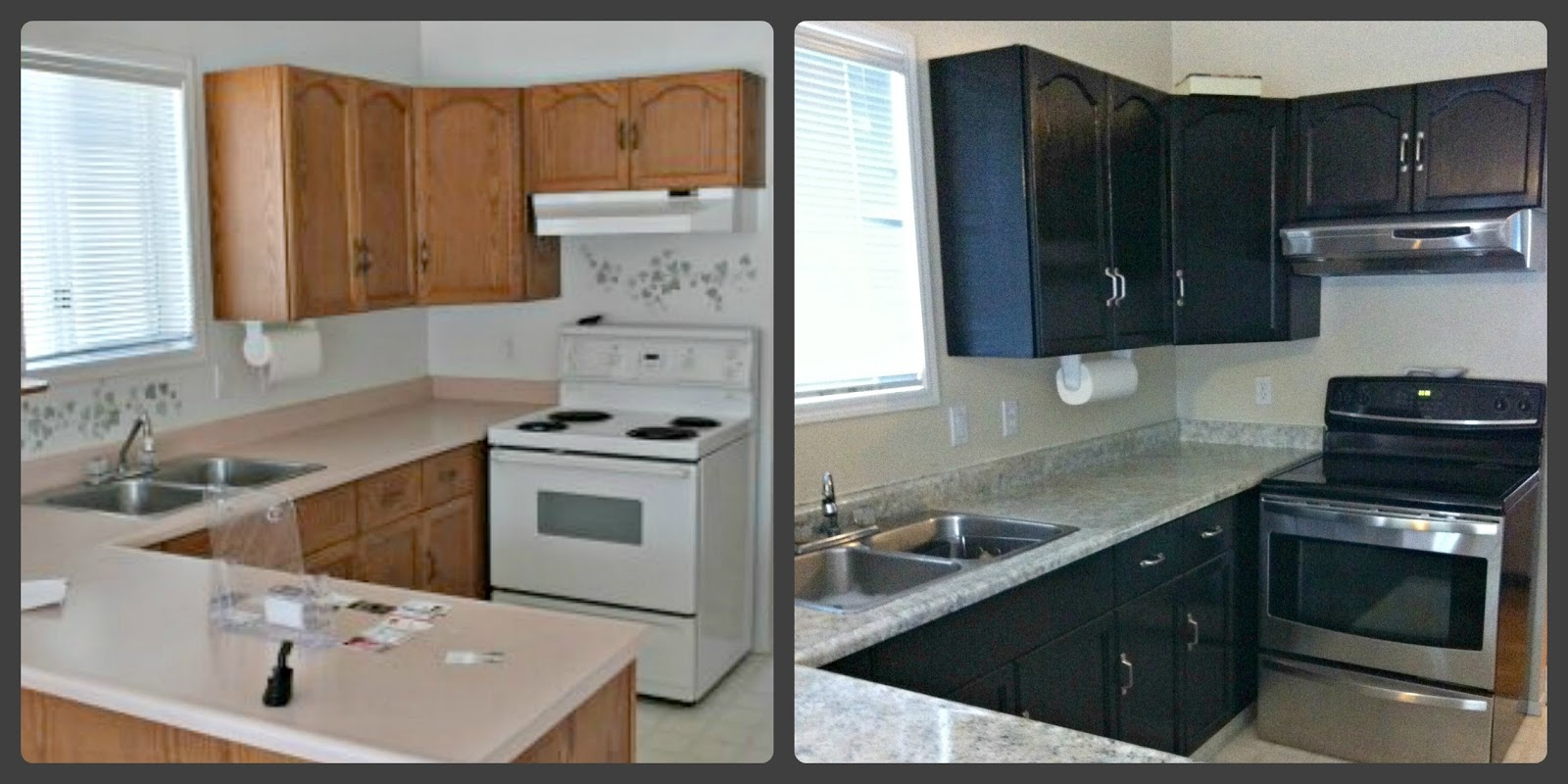 Countertop Paint Before And After : ... and Caffeinated: Paint Your Countertop: Giani Granite Countertop Paint