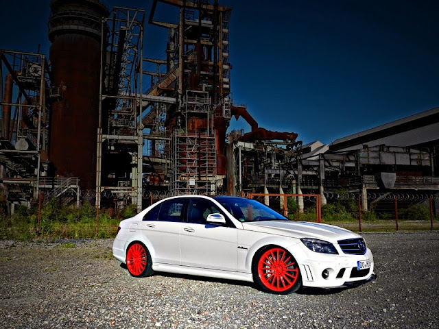 c63 amg red wheels