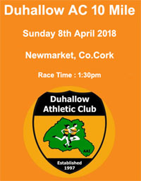 New 10 mile race in Newmarket, Co.Cork... Sun 8th April 2018