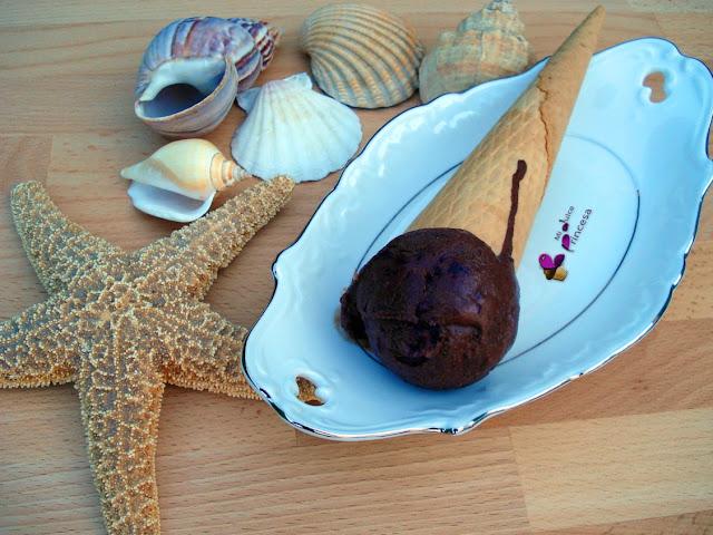 helado, chocolate, chocolate y cerezas, copas de helado