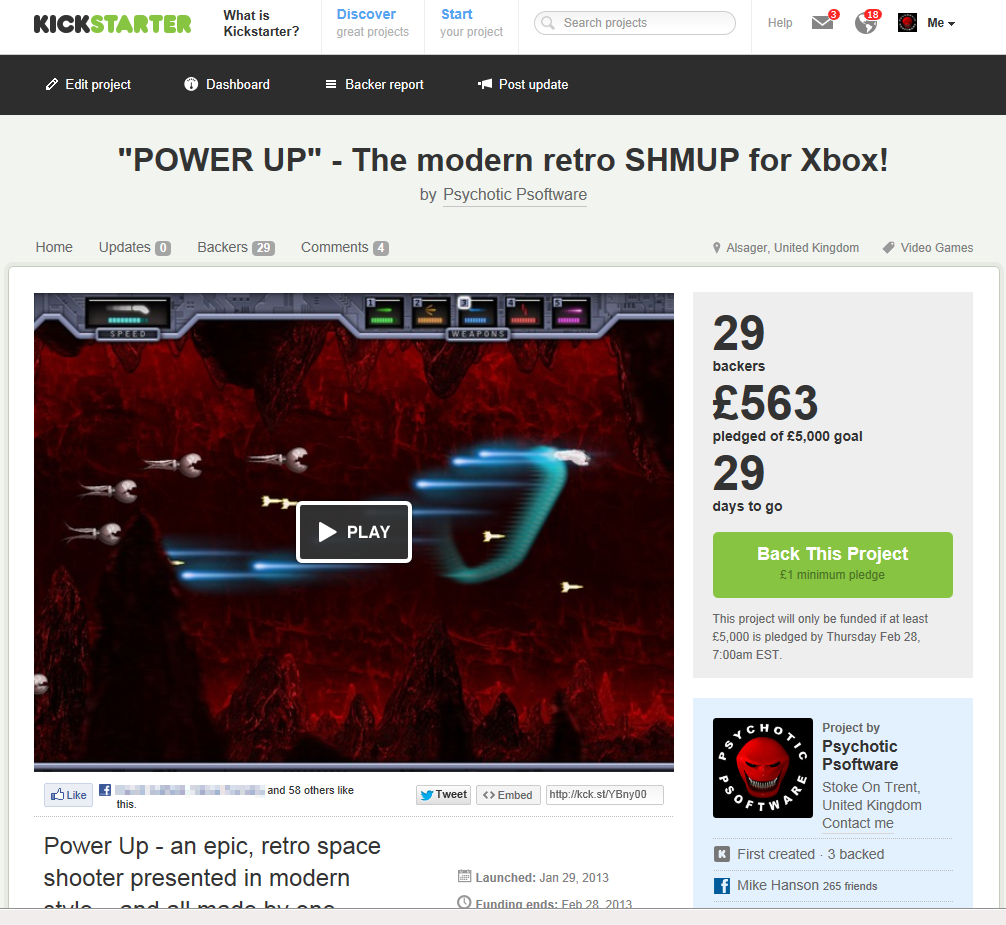 The innitial rush pushed the PowerUp Kickstarter past 10% in its first day!