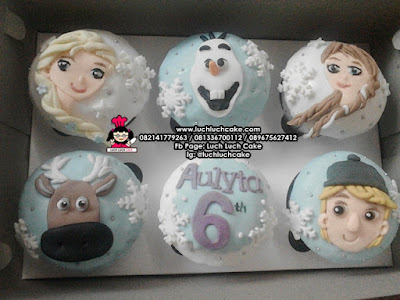 Cupcake 2d Frozen Elsa, Anna, Olaf