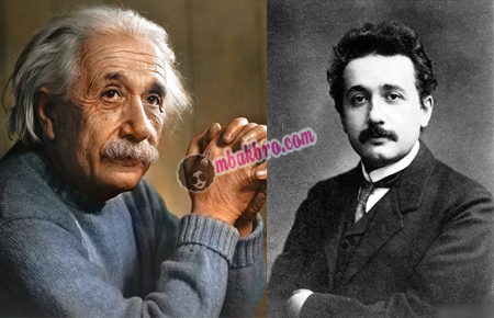Einstein ketika sudah tua dan masih muda