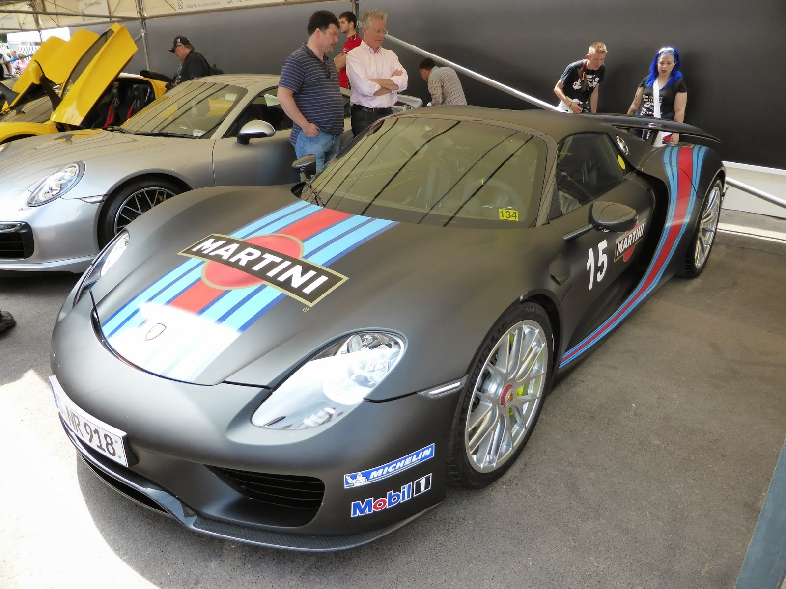 Porsche 918 in the supercar paddock
