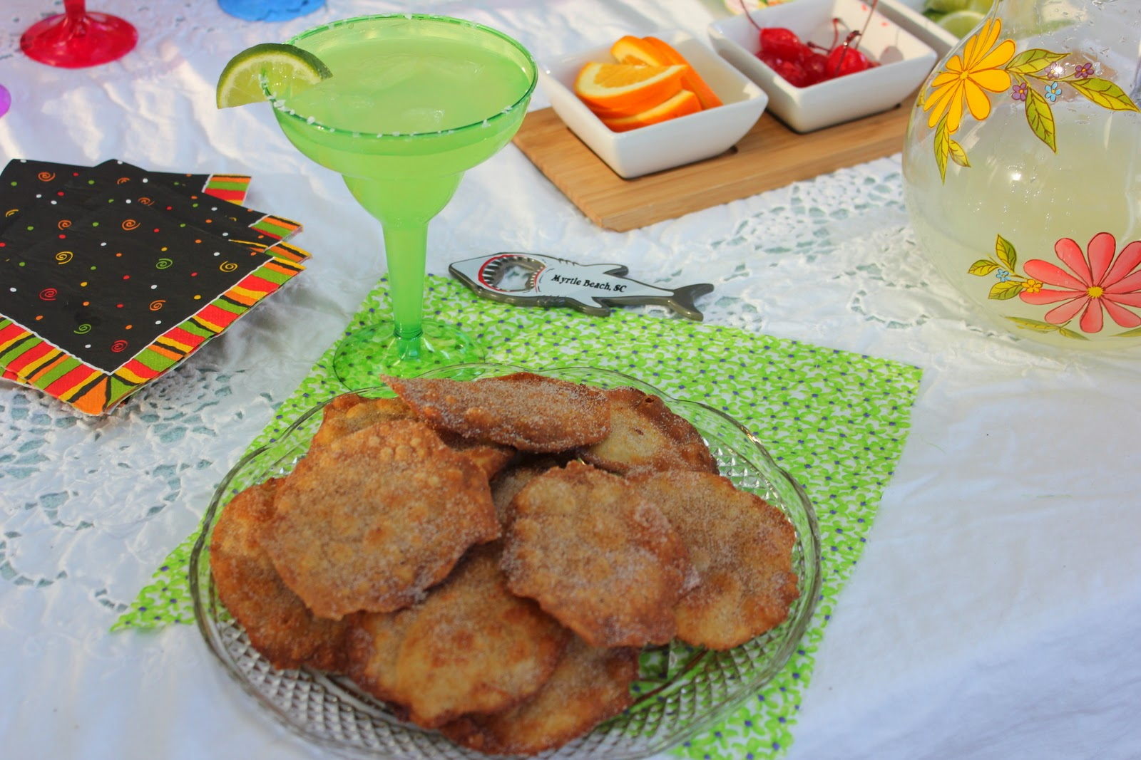 like fritters that are sprinkled with sugar and cinnamon are a Mexican ...