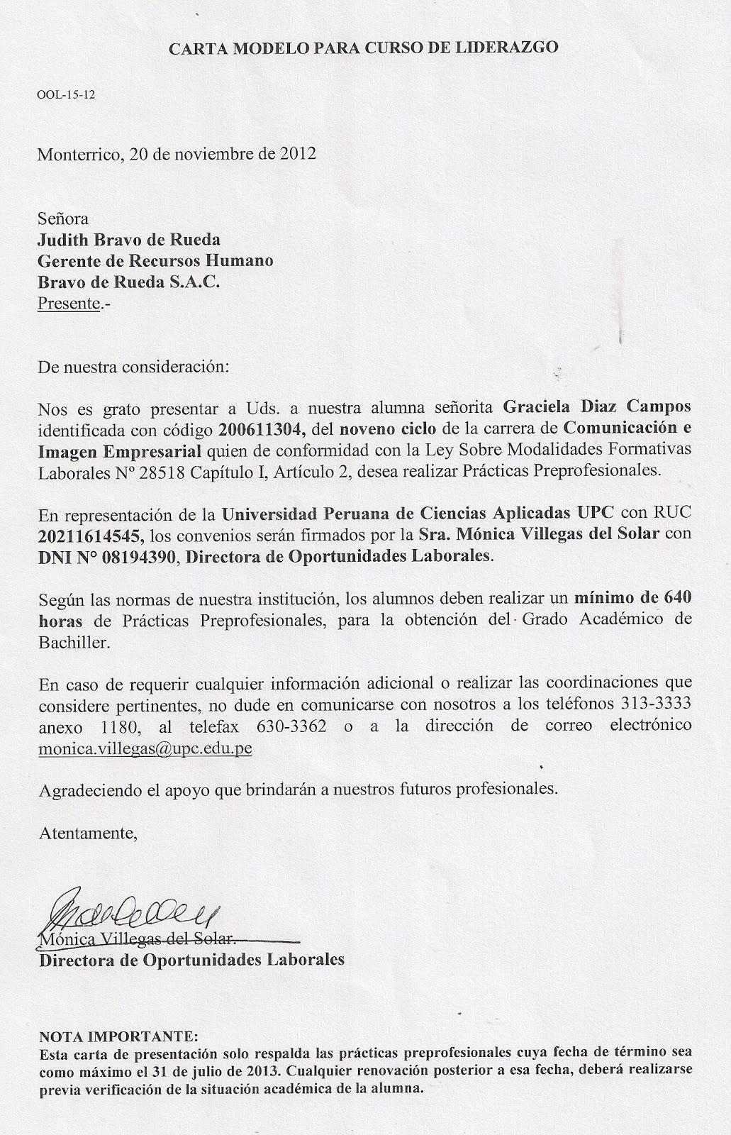 carta de representacion laboral - Gidiye.redformapolitica.co