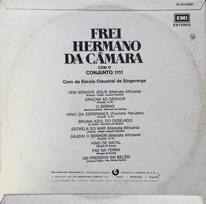 Frei Hermano da Câmara Com o Quarteto 1111 - Bruma Azul do Desejado (LP 1973) Back