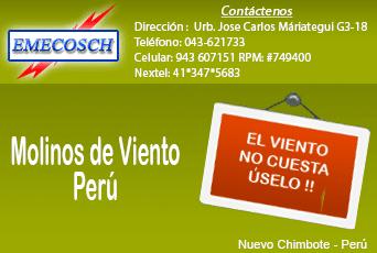 Molinos de viento Peru - EMECOSCH