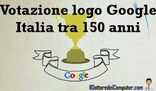 votazione logo doodle google 150 anni