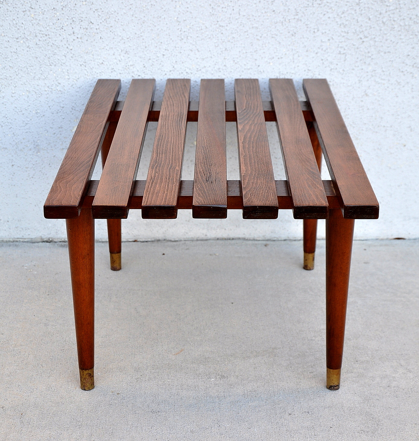 Mid Century Solid Wood Small Platform Slat Bench Or Coffee: SELECT MODERN: January 2013