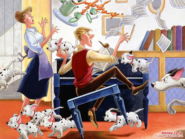 101 Dalmatians Original Widescreen Cartoon Wallpaper