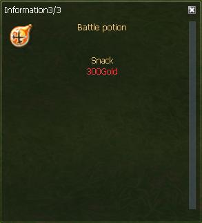 Nostale Battle Potion