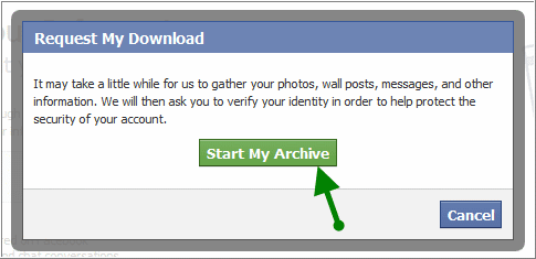 facebook conformation dialogbox