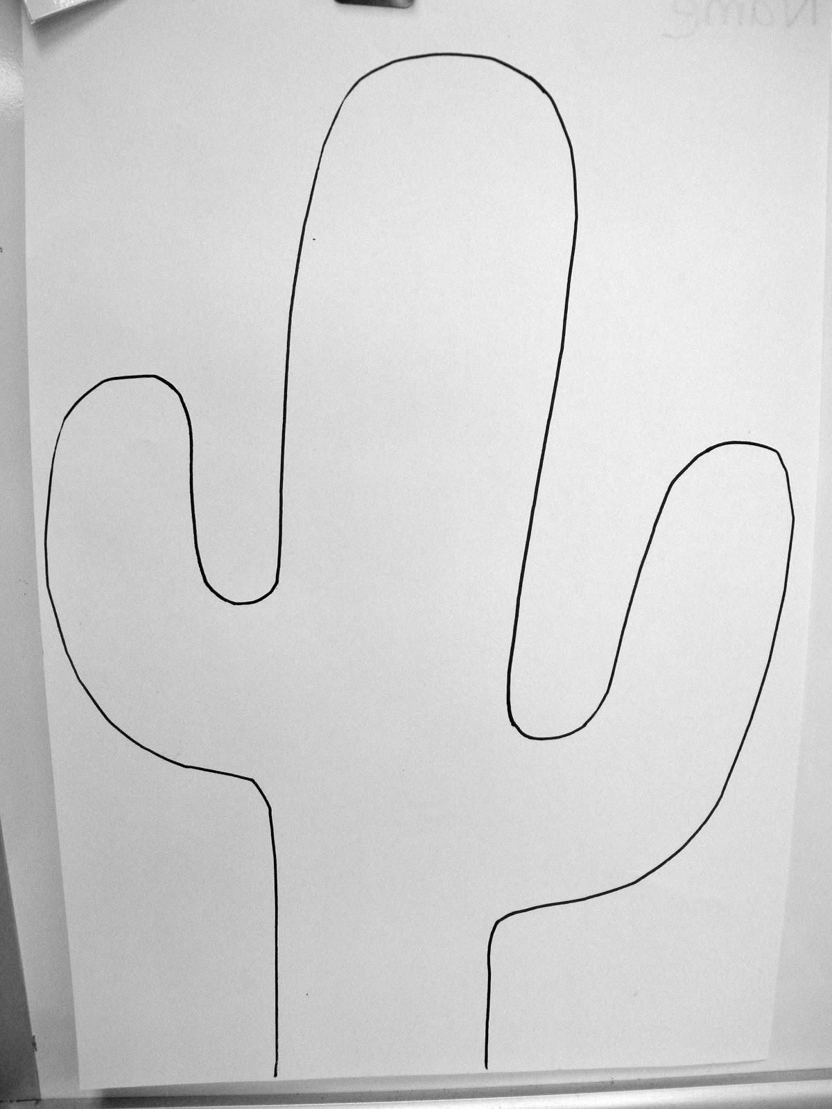 South Hills Elementary Art: Mondrian Cactus (Kindergarten & 1st Grade)