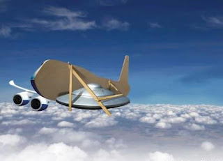 UFO craft hiding behind aeroplane disguise