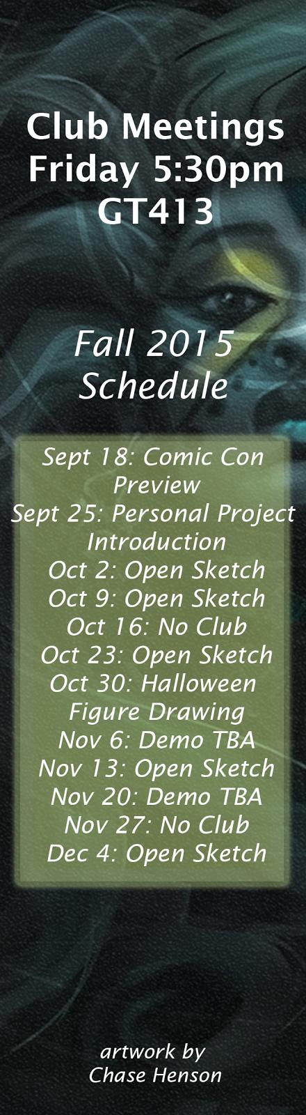 fall 2015 schedule