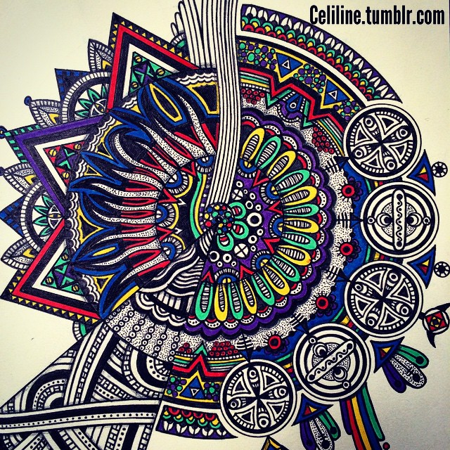07-Celiline-Hand-Drawn-Zentangle-Doodles-Illustrations-Drawings-www-designstack-co
