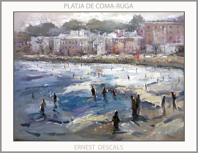 PLATJA-COMA-RUGA-PINTURA-MARINA-PAISATGES-TARRAGONA-CATALUNYA-PINTURES-ARTISTA-PINTOR-ERNEST DESCALS-