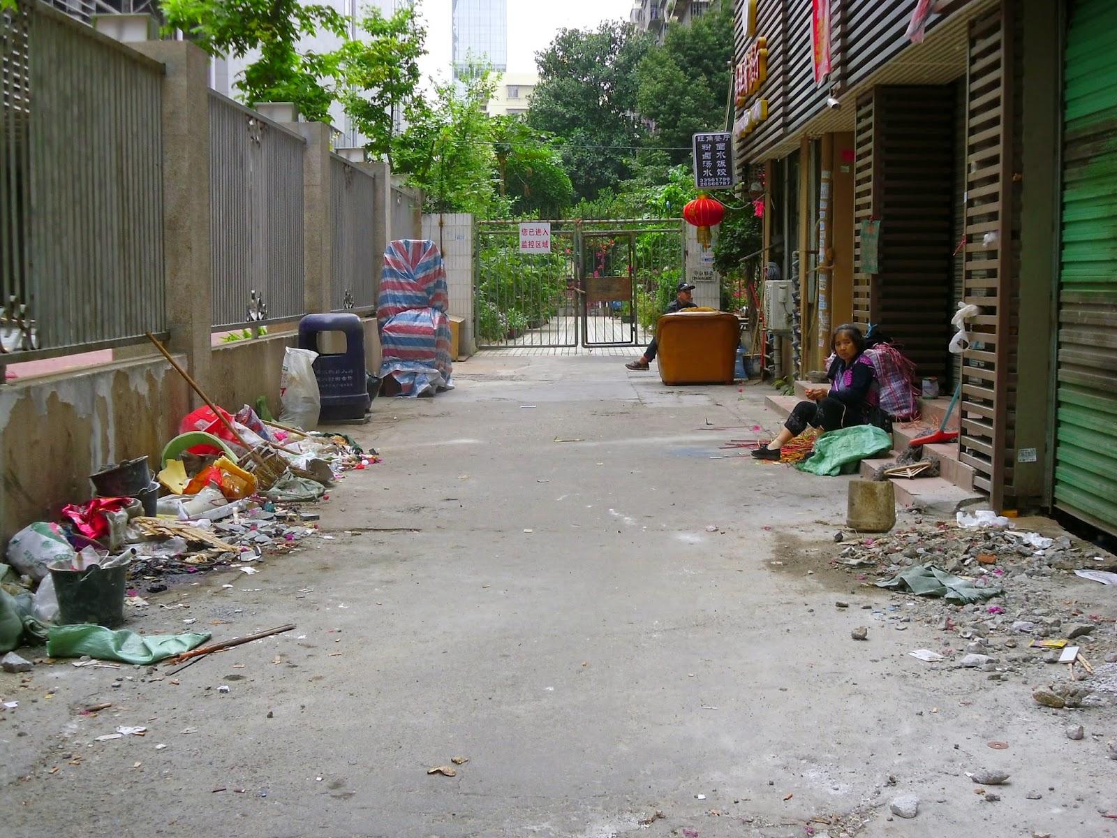 Sujeira nas ruas da China