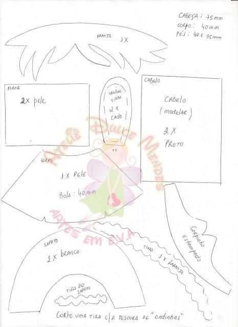Fofucha coneja de la web con moldes 114