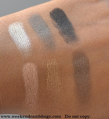 lorac ooh la lace baked shimmer and matte eye shadow palette lust smolder risque shimmer knockout racy swatches