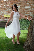 White Cut Out Maxi Dress