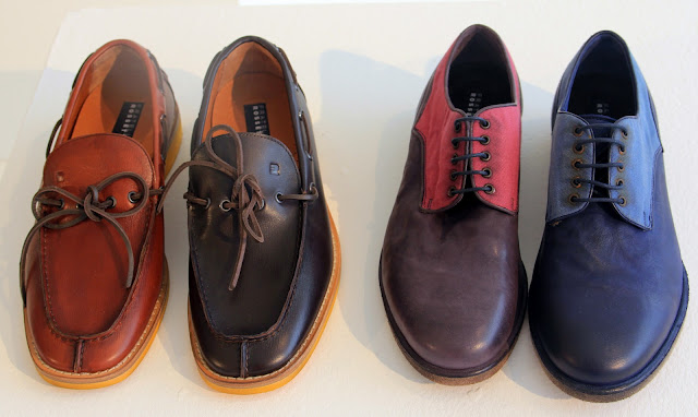 two tone classic oxfords...and boat shoe profiles in leather-with a metal  eyelet ---all non-marking outsoles (of course)