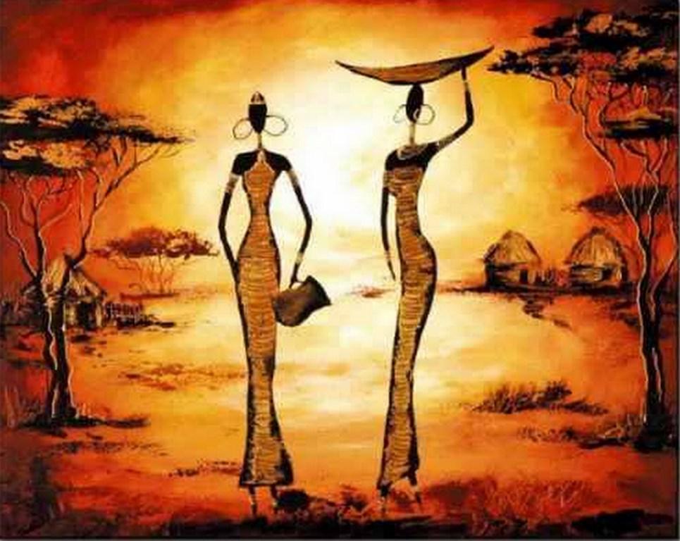 Im genes arte pinturas im genes de pinturas modernas al leo de paisajes africanos y arte tnico - Imagenes para cuadros ...