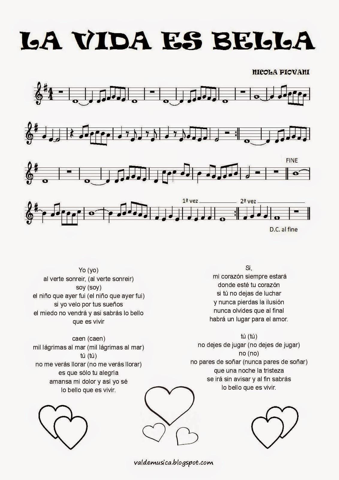 letra de canciones de bandas sonoras: