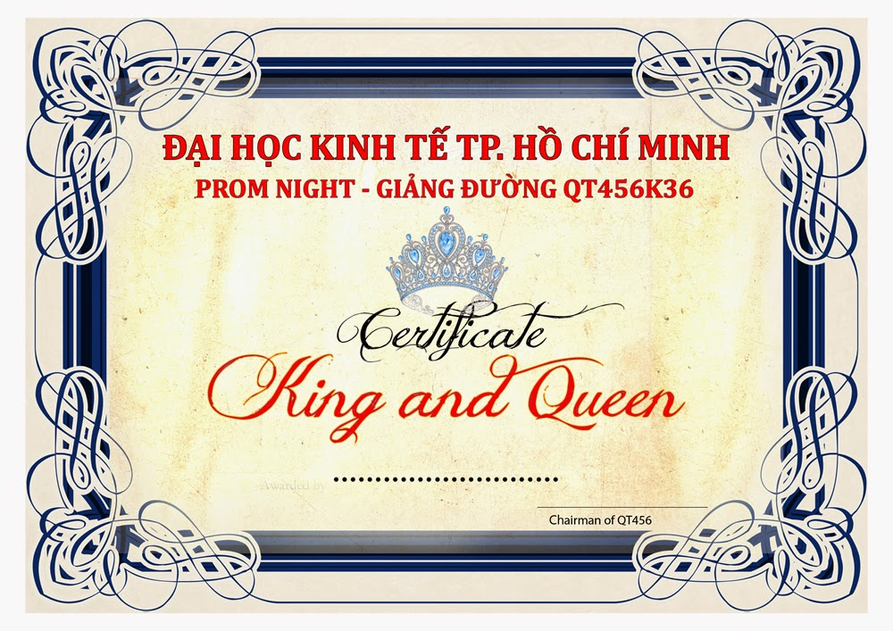 bang khen king and queen qt456