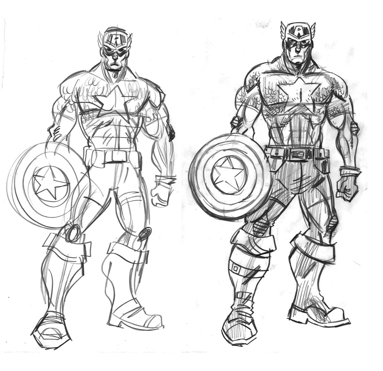 Único Dibujos Para Colorear Capitán América Galería - Dibujos Para ...