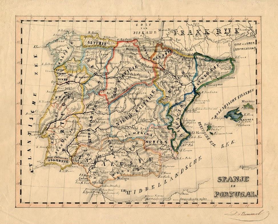 España y Portugal, P. van Bommel 1865