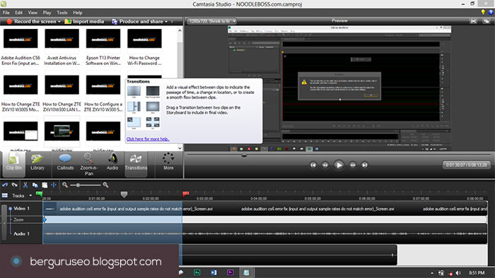 Aplikasi Edit Video Camtasia Studio