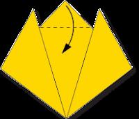 Cara Membuat Origami Wajah Kucing